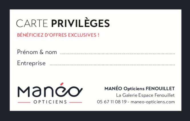 CARTE PRIVILEGES MANEO FENOUILLET