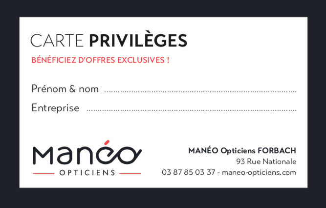 CARTE PRIVILEGES MANEO FORBACH