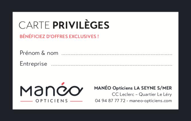 CARTE PRIVILEGES MANEO LA SEYNE