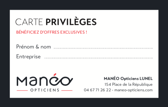 CARTE PRIVILEGE MANEO LUNEL