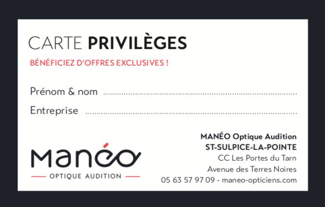 CARTE PRIVILEGE MANEO ST SULPICE