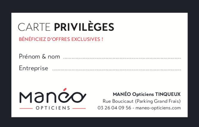 CARTE PRIVILEGES MANEO TINQUEUX